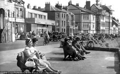 Taking a break in Parkgate, c.1935.