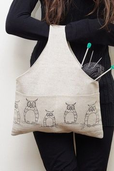 Large Project Bag Mystic Owl. by KnitterBag on Etsy, $19.99 http://girlphotoblogs.com
