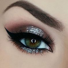 Chocolate Brown Sparkly Eye Makeup