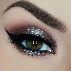 Chocolate Brown Sparkly Eye Makeup