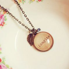 Custom Imagine Necklace with Charm and by DearDelilahHandmade, $28.00