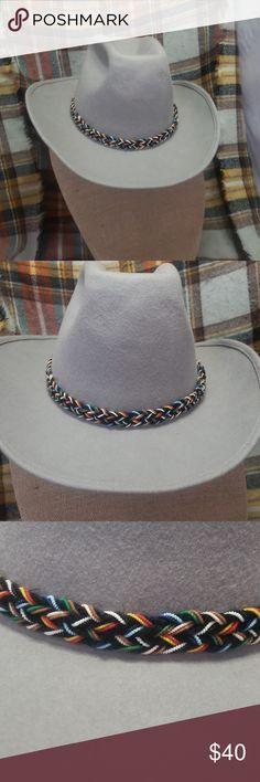 Vintage wool mens Cowboy hat Vintage gray wool mens Cowboy hat c26c2d575ac3