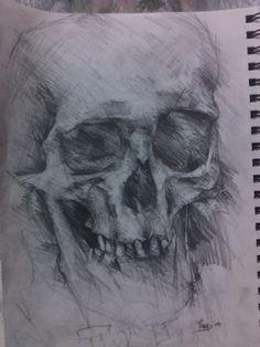 skull-pencil on paper