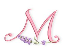 Bernina Lavender font-M- Be sure to search out their site for other font sets given in the past, they are also in my pins already Embroidery Alphabet, Embroidery Applique, Machine Embroidery Projects, Brin, Font Setting, Purple Lilac, Janome, Embellishments, Creations