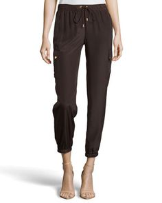Cargo-Pocket Track Pants, Chocolate by MICHAEL Michael Kors at Neiman  Marcus Last Call