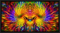 Visionary Rainbow Phoenix Artwork by Jalai Lama | 2014 Remastered Verison |  Limited Ediiton Print # 1 of 111.