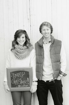 couples christmas photos - super simple, kinda love it!