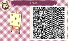 Trees (2 patterns) - Animal Crossing New Leaf QR Codes