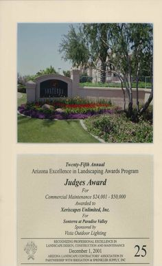 Judge's Award for Commercial Maintenance, 2001