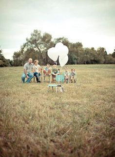 Love this empty chair with balloons -- seems to convey how EXCITED we are to CELEBRATE our child coming home.