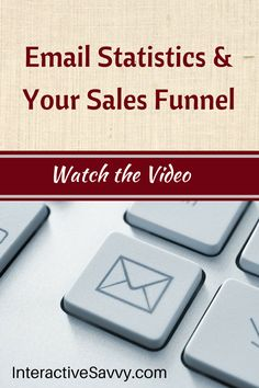 Email statistics and your sales funnel. Watch the video for insight. #smallbiz #marketing