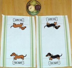 Dachshund Kitchen Dish Towels