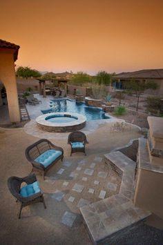 Award Winning Pool Spa Design Landscape Outdoor Kitchen