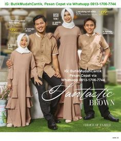 Saat bahagia di momen Lebaran, Hari Raya Idul Fitri bersama dengan keluarga tercinta, hadirkan dan gembirakan suasana dengan Gamis Sarimbit ... Muslim Fashion, Hijab Fashion, Fashion Outfits, Womens Fashion, Fashion Ideas, Outfit Man, Hijab Outfit, Couple Outfits, Family Outfits