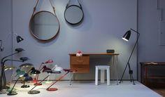 Zozoi Interiors, Berlin - Adnet Circulaire mirror, Bestlite & Gräshoppa floor lamp // Gubi decdesignecasa.blogspot.