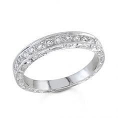BF1356 - #30453  18k white diamond ring 0.26 ct. round (call for pricing)