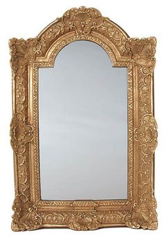 One Kings Lane - Beautiful Reflections - Arched Top Mirror, Gold