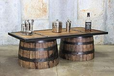New Repurposed Up-cycled Whiskey Barrel COFFEE Table Reclaimed Barn Wood Top Bourbon Collection Liv Custom Made Furniture, Repurposed Furniture, Furniture Making, Rustic Furniture, Refurbished Furniture, Handmade Furniture, Furniture Projects, Diy Furniture, Furniture Design