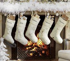 Lino gran personalizado con monograma vacaciones medias de navidad botas pinterest - Calcetines de navidad personalizados ...