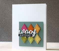 Happy Birthday Card by Laura Bassen for Papertrey Ink (July 2014)
