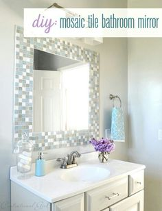 I like the tile around the mirror--not so much tile as this, but it could be the same as the listello?