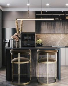 Low Budget Home Decorating Can Really Give Your Home a Lift Kitchen Room Design, Modern Kitchen Design, Living Room Kitchen, Home Decor Kitchen, Kitchen Interior, Home Kitchens, Loft Interior Design, Interior Designing, Budget Home Decorating