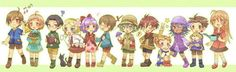 rival kids harvest moon animal parade tree of tranquility tot/ap