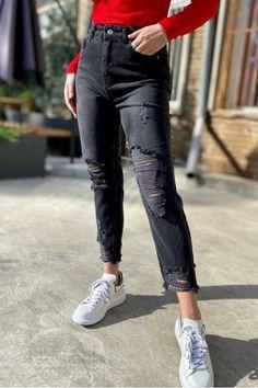 Blugi dama momfit negri cu rupturi fashion ieftini Diesel, Calvin Klein, Skinny Jeans, Casual, Fashion, Diesel Fuel, Moda, Fashion Styles, Fashion Illustrations