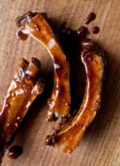 Sweet and Sour Balsamic glazed Baby Back Ribs.