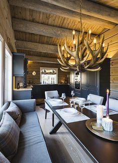 Big Sky Lodge, Chalet Interior, Mountain Cottage, Cabin Interiors, Küchen Design, Real Estate, Kitchen, House, Furniture