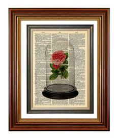 No 294 Beauty and the Beast Inspired Rose Original by AvantPrint, $7.00