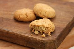 Tahini and Almond Cookies. A good way to use up some of the tahini that likes to hide out in the back of our fridge.