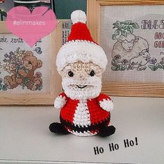 Kawaii Santa Claus!  Can't wait for Christmas  Amigurumi pattern is available on my #etsy shop #amigurumi #crochet #elinmakes #santaclaus #Christmas #kawaii #cute #hobby #handmade #etsyshop #pattern #craft