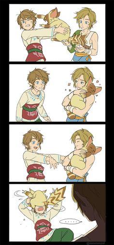 The Legend of Zelda: Skyward Sword and The Legend of Zelda: Twilight Princess, Link and Mia / 「zelda log」/「ミンメ」のイラスト [pixiv] [02]