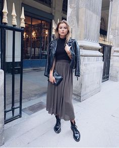Gabija Varnaite spotted on ParisFashionWeek in INCH2 Wingtip Ankle Boots
