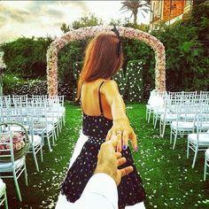 Love this! Girlfriend leads her boyfriend across the globe.