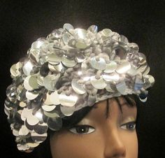 Bangle Paillettes Crochet Tam/ Hat Sparkling by MISSVINTAGE5000, $35.00