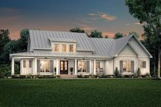 Cottage House Plans, Craftsman House Plans, Cottage Homes, Craftsman Style, Cottage House Styles, Craftsman Farmhouse, Southern Farmhouse, Porch House Plans, Farmhouse Bedrooms