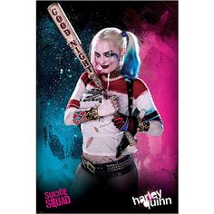 Suicide Squad Harley Quinn Poster ($5.24) ❤ liked on Polyvore featuring home, home decor and wall art