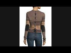 Buy Rachel Zoe Ryan Mixed-Pattern Lace-Back Sweater