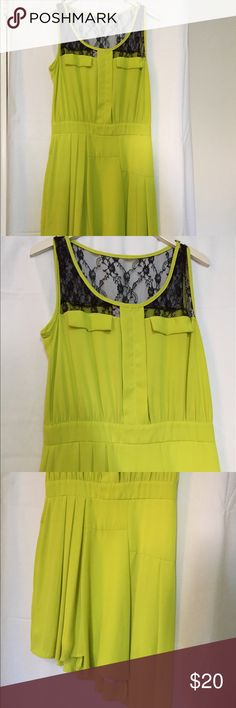 Dress Assume trivial yellow neon dress perfect for a casual summer day. Dress in perfect condition Romeo & Juliet Couture Dresses Asymmetrical