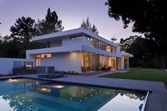 Striking modern family home in California surrounded by nature