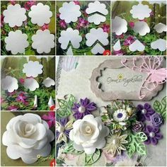 Paper rose from 1 template, amazing!