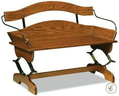 A Hutchinson Buckboard Bench boasts an artistic wagon seat design skillfully turned into armrests and accentuates the look of most rustic or classic homes.