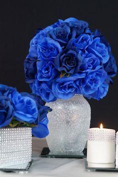 Royal Blue Centerpiece 23 relationship wants / royal blue dress for wedding / royal blue wedding dress / blue wedding dress royal / royal blue wedding Royal Blue Centerpieces, Quince Centerpieces, Royal Blue Wedding Decorations, Sweet 16 Centerpieces, Sweet 16 Decorations, Quince Decorations, Quinceanera Centerpieces, Bridal Shower Decorations, Centerpiece Ideas