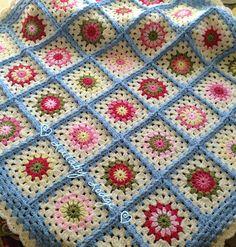 Cath Kidston Colours Vintage Granny Flower Blanket