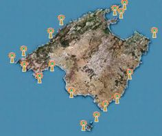 Lighthouses in the island of Mallorca - Balearic Islands, Spain.