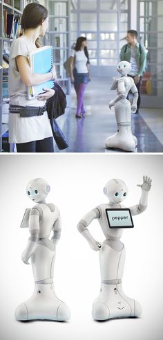 Softbank's Pepper robot, coming to shops and homes. #robotics #technology #Aldebaran