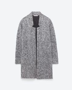 Grey Marl MIDI COAT from Zara