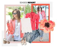 """""""seaside resort"""" by kristineklein ❤ liked on Polyvore featuring J.Crew, maurices, River Island, Gianvito Rossi and Thos. Baker"""